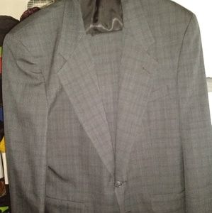 CRISTIAN DIOR 100% GRAY WOOL SUIT